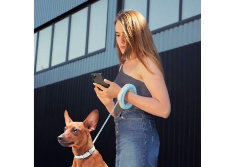 Поводок-рулетка для собак круглая WAUDOG XS-M, 2,9 м/40 кг