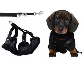Поводок+шлея для щенков Trixie мягкая черная