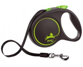 Рулетка для собак Flexi BLACK DESIGN L 5 м до 50 кг (лента) зеленая (FL 034125)