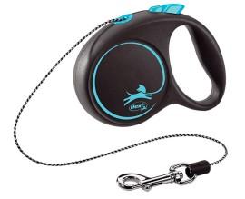 Рулетка для собак Flexi BLACK DESIGN XS 3 м до 8 кг (трос) синяя (FL 033234)