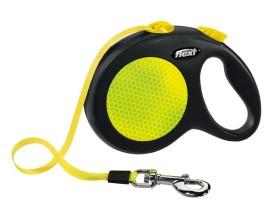 Рулетка для собак Flexi NEON черная (лента)