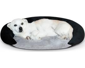 Самосогревающийся лежак для собак KH Bolster серый/черный