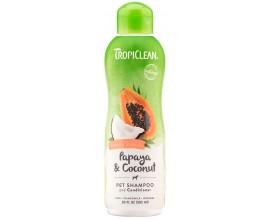Шампунь-кондиционер для кошек и собак TropiClean Papaya Coconut, 355 мл