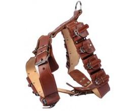 Шлея для собак с утяжелителями Collar №1, коричневый (06586)