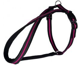 Шлея-восьмерка для собак Trixie Fusion черная/розовая