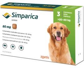 Симпарика для крупных собак от 20 до 40 кг, 3 таблетки