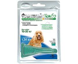 Средство от блох и клещей для собак от 10 до 20 кг Фронтлайн Комбо Спот Он, 1 пипетка (27577)