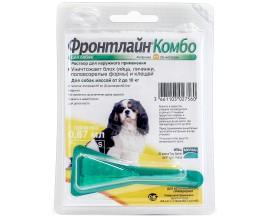 Средство от блох и клещей для собак от 2 до 10 кг Фронтлайн Комбо Спот Он, 1 пипетка