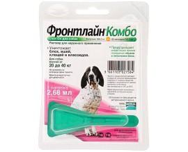 Средство от блох и клещей для собак от 20 до 40 кг Фронтлайн Комбо Спот Он, 1 пипетка
