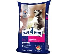 Сухой корм для щенков всех пород Клуб 4 Лапы Premium 14 кг