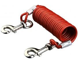 Трос привязочный для собак Trixie спиральный с карабинами
