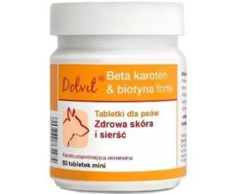 Витамины для собак Dolfos Beta-carotene Biotin Forte mini, 90 табл