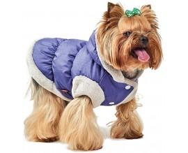 Жилет для собак Pet Fashion БОНЖУР двухсторонний фиолетовый/серый