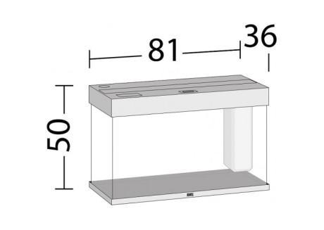 Аквариум Juwel RIO 125 LED светлый дуб (01850)