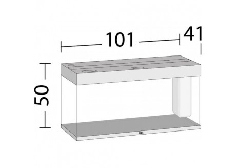 Аквариум Juwel RIO 180 LED белый (04450)