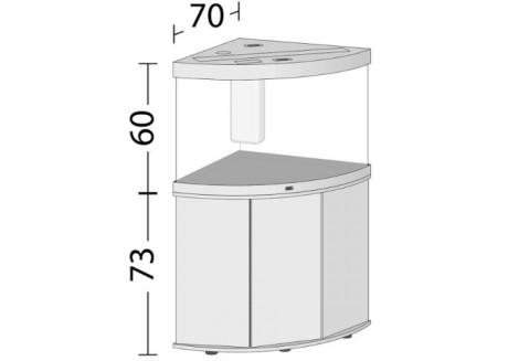 Аквариум Juwel TRIGON 190 LED коричневый (16750)
