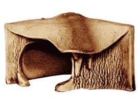Аквариумная декорация Природа Грот для черепах угловой
