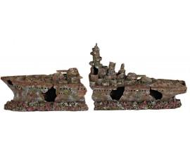 Декорация для аквариума Trixie Разбитый корабль 70 см (8886)
