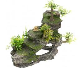 Декорация для аквариума Trixie Утес с растениями (8852)