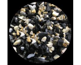 Грунт для аквариума Nechay ZOO черно-белый средний