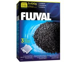 Угольный вкладыш в фильтр Fluval, 3 шт x 100 гр (A1440)