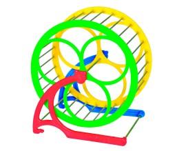 Колесо для хомяка металл+пластик, d 14 см (PR740817)