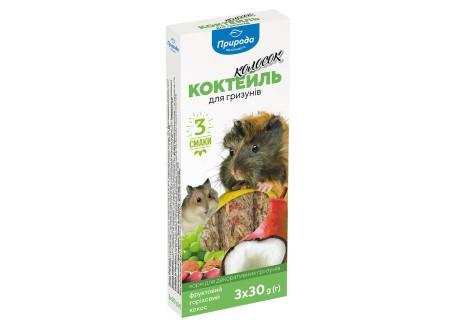 Колосок Коктейль для грызунов (фрукт, орех, кокос), 90 г (PR240099)