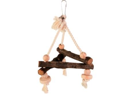 Игрушка-треугольник для попугаев Trixie дерево (5882)