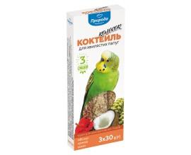 Колосок Коктейль для волнистых попугаев (гибискус, чумиза, кокос), 90 г (PR240095)