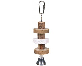 Мел с деревянной игрушкой и колокольчиком для птиц Trixie (58951)