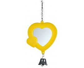 Зеркало-сердечко с колокольчиком для птиц Trixie пластик (5202)