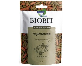 Корм для черепах Природа Биовит гранулированный, 25 гр
